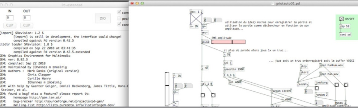 guillaumeloiseau guillaume loiseau pure data installation interactive visuel